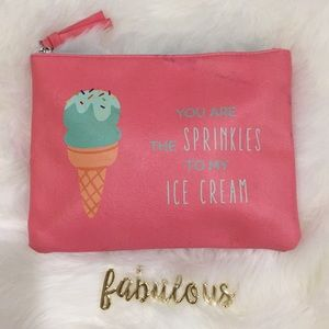 Handbags - You are the sprinkle to my ice cream pink clutch
